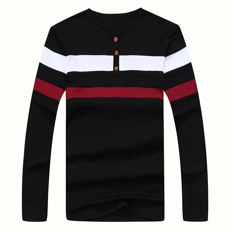 Men FASHION Man Striped men t-shirt with long sleeves in black 1