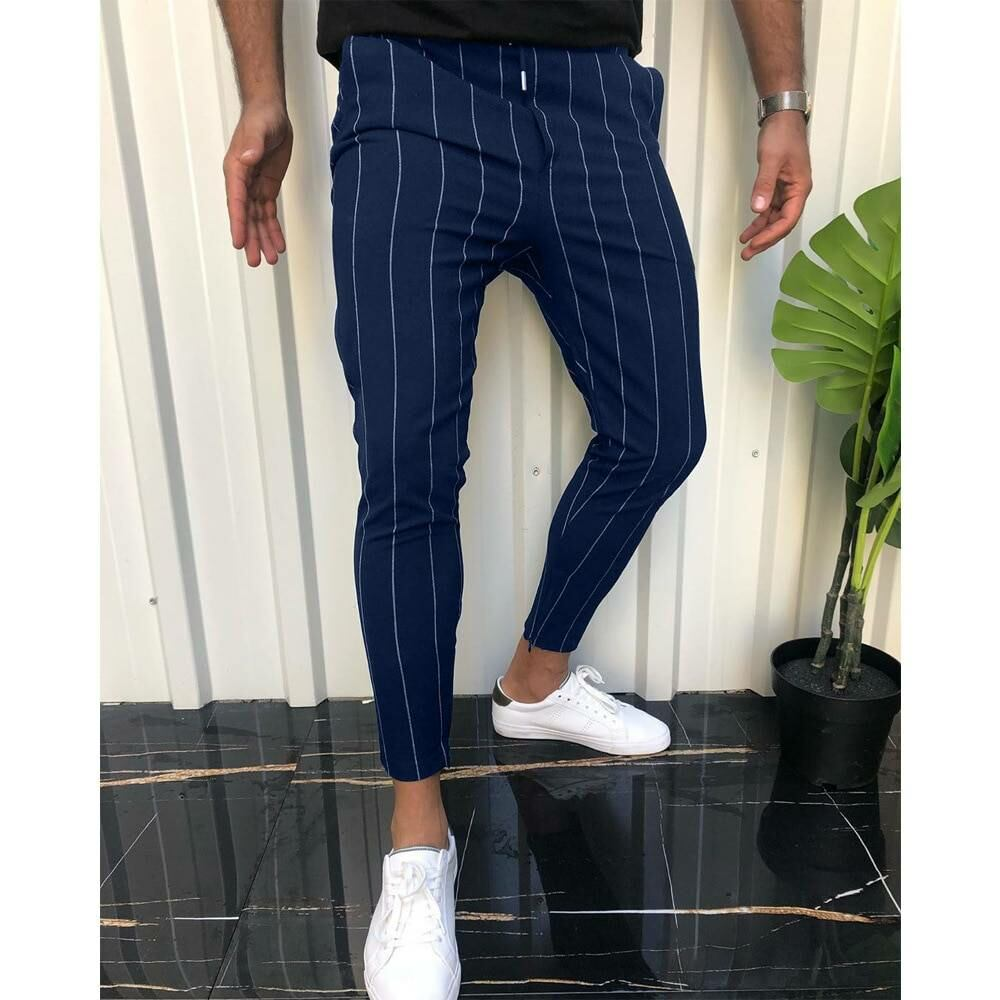 Men FASHION Man Casual striped men jogger pants in blue 1
