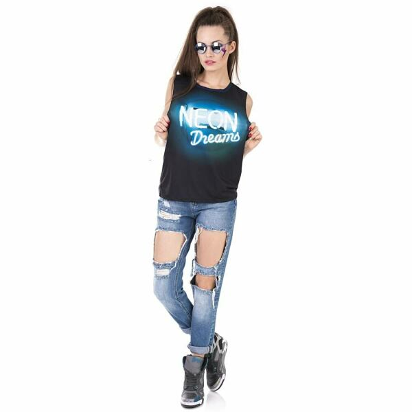 Women FASHION Women top with neon dreams printing 1