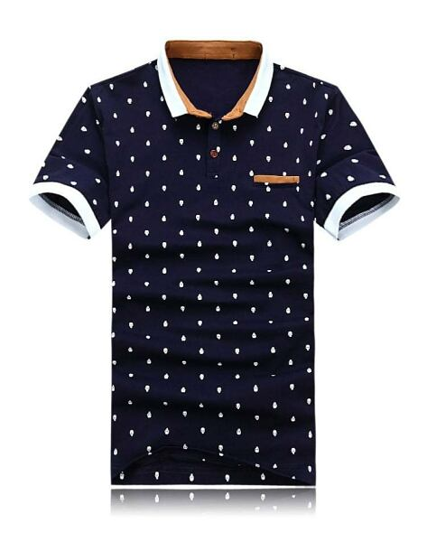 Men FASHION Man Men poloshirt with skull print in blue