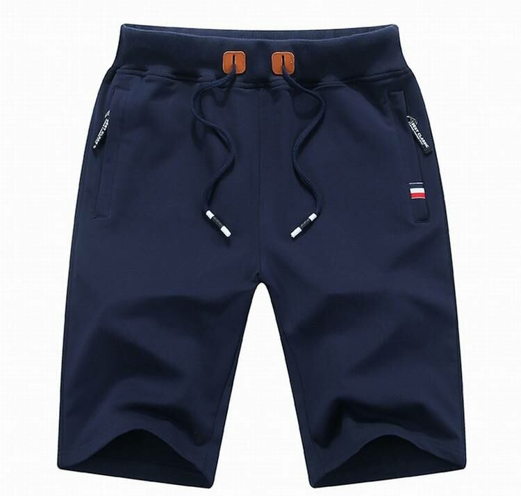 Men FASHION Man Casual beach cotton shorts for men in blue