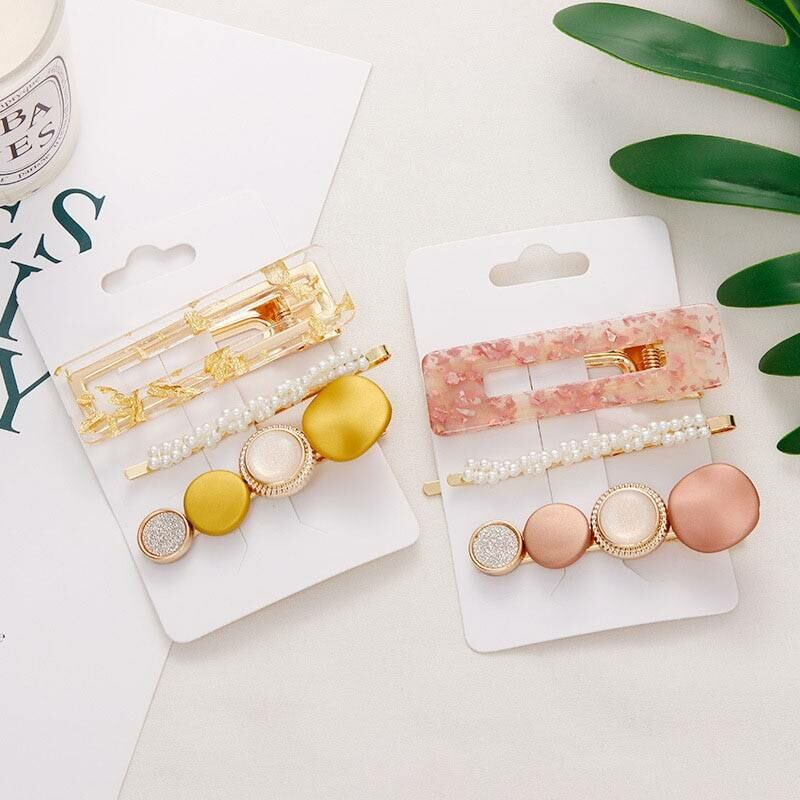3 pieces set fashion geometric hair clips for women Ads WOMEN Ads Women ACCESSORIES Ads Women JEWELRY WOMEN Women ACCESSORIES Womens JEWELRY