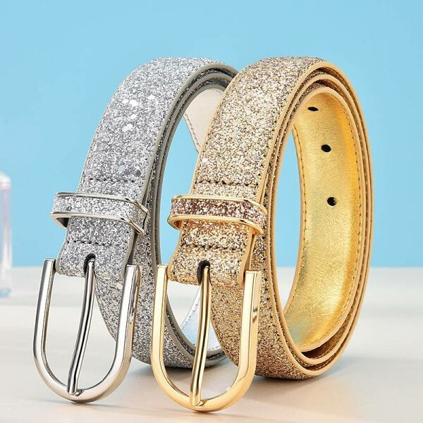 Glitter gold and silver belt for women Ads WOMEN Ads Women ACCESSORIES Ads Women BELTS WOMEN Women ACCESSORIES Womens BELTS