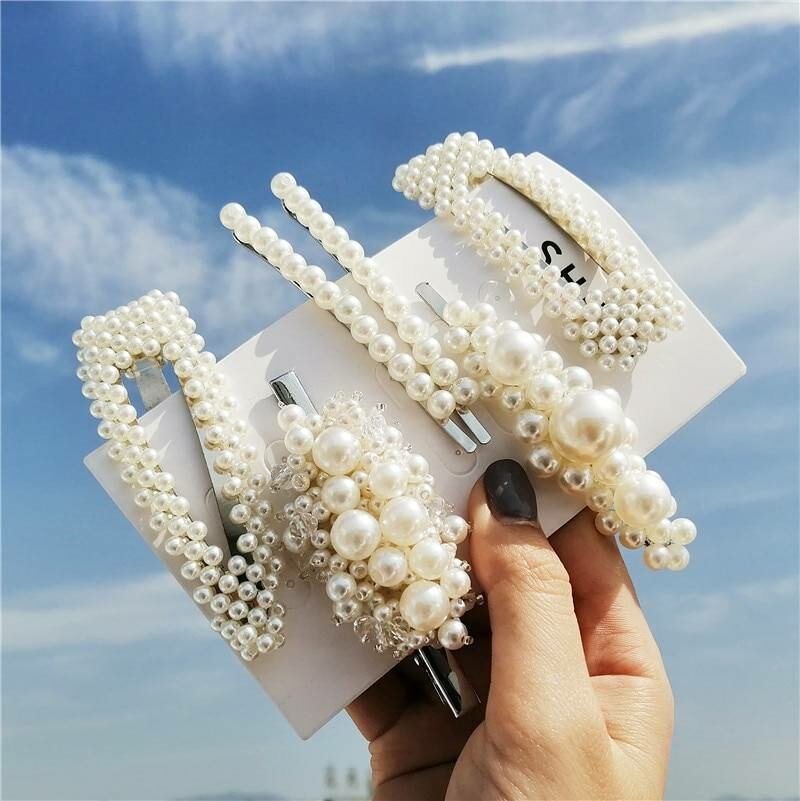Fashion simulated-pearl hair clips set for women Ads WOMEN Ads Women ACCESSORIES Ads Women JEWELRY WOMEN Women ACCESSORIES Womens JEWELRY