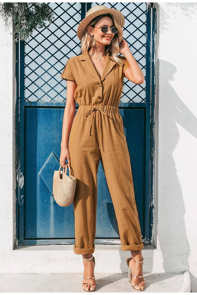 Casual women jumpsuit in high waist with lace up Ads WOMEN Ads Women FASHION Ads Women JUMPSUITS WOMEN Women FASHION Womens JUMPSUITS 1