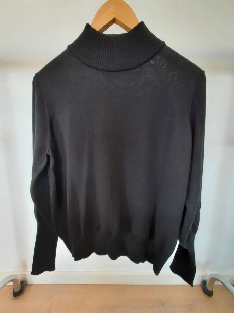 black women turtleneck sweater with puffy sleeves sample 66544
