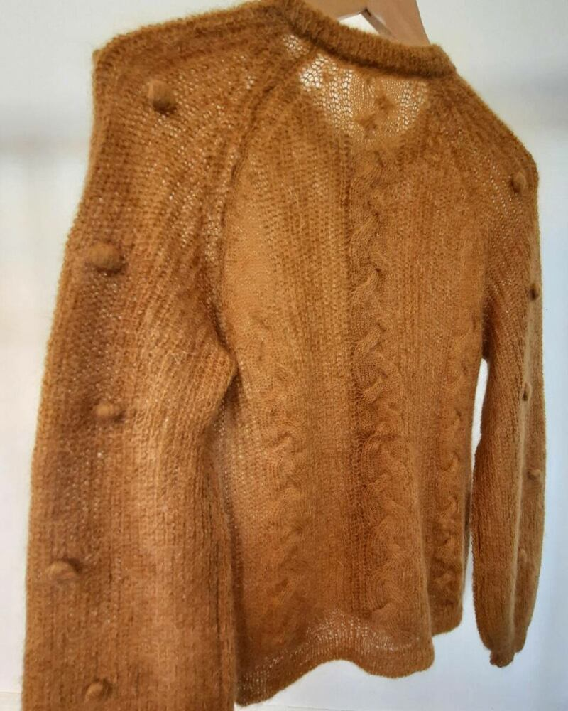 Brown women knitwear sweater with puffy sleeves sample Ads WOMEN Ads Women FASHION Ads Women KNITWEAR Ads Women SWEATERS WOMEN Women FASHION Womens KNITWEAR Womens SWEATERS