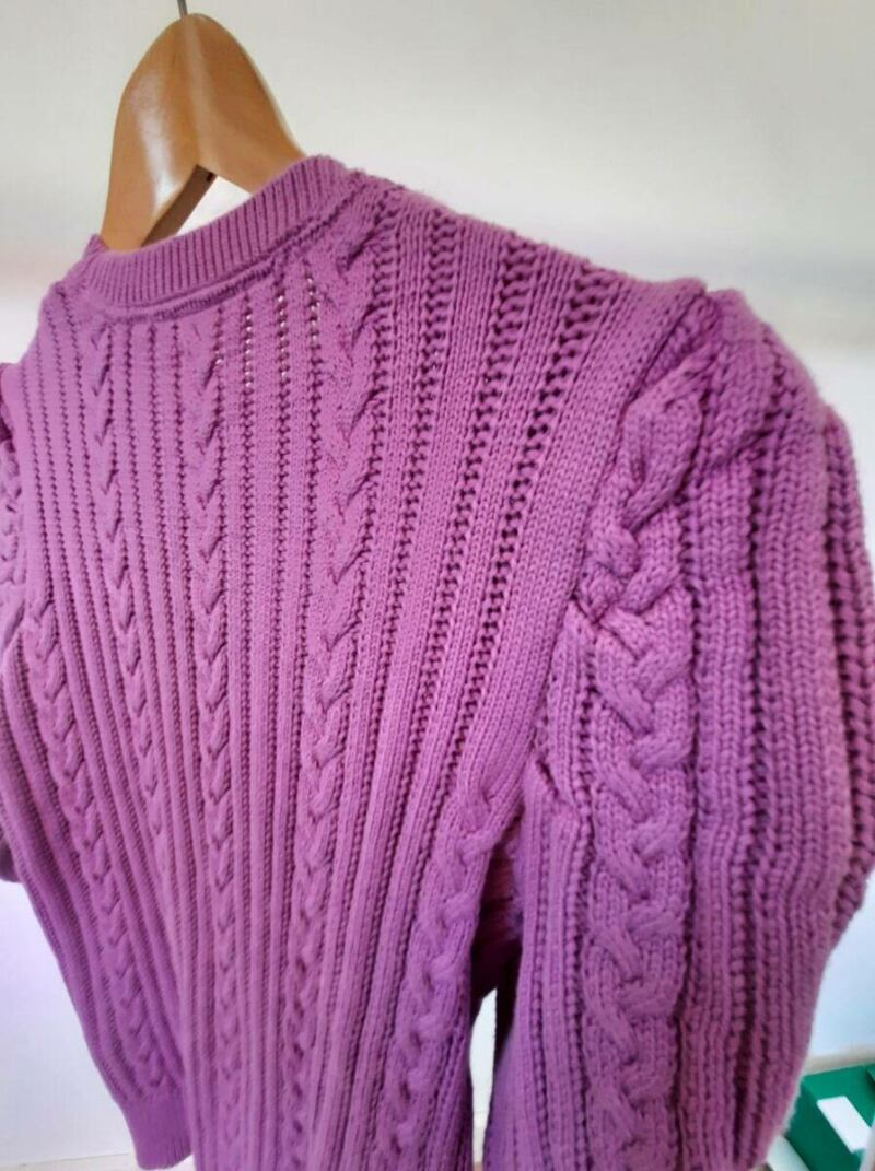Pink women knitwear sweater with puffy sleeves sample Ads WOMEN Ads Women FASHION Ads Women KNITWEAR Ads Women SWEATERS WOMEN Women FASHION Womens KNITWEAR Womens SWEATERS