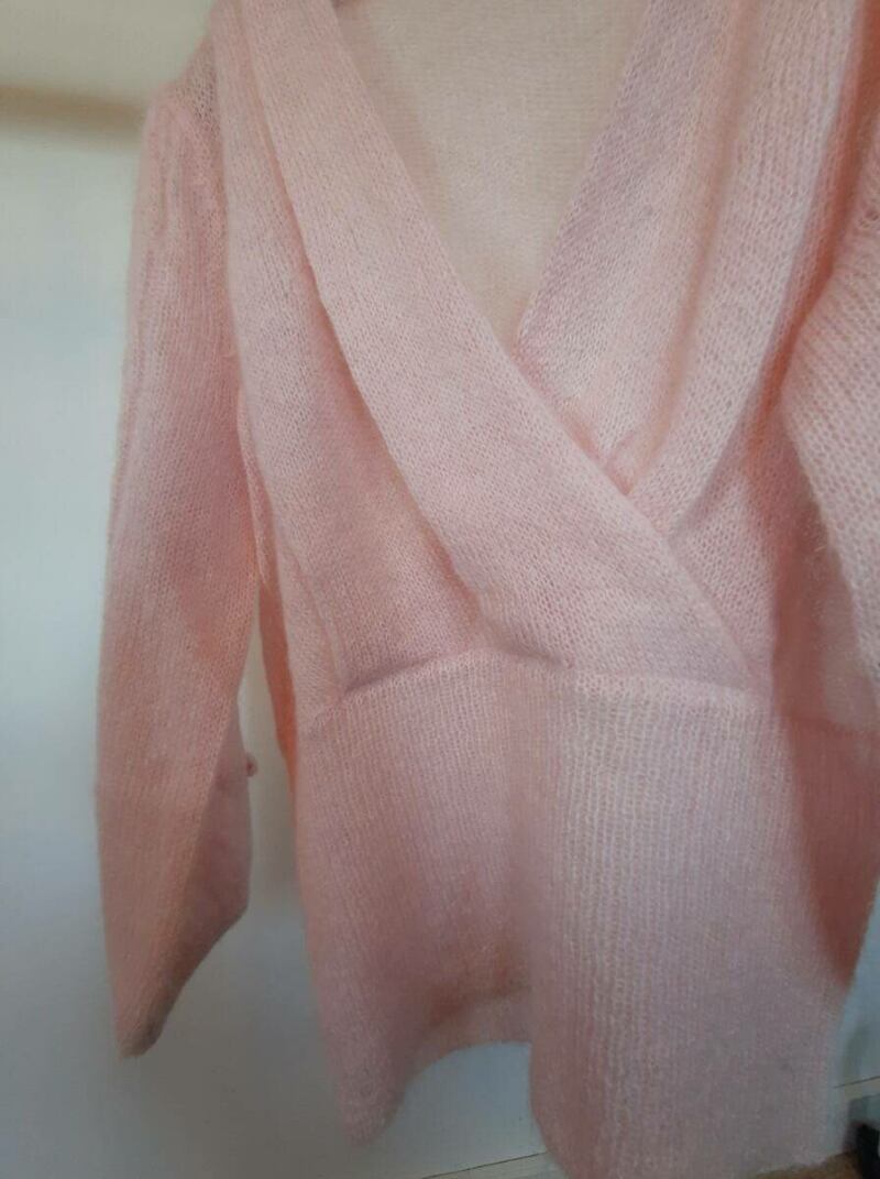 Rose women knitwear sweater with puffy sleeves sample Ads WOMEN Ads Women FASHION Ads Women KNITWEAR Ads Women SWEATERS WOMEN Women FASHION Womens KNITWEAR Womens SWEATERS