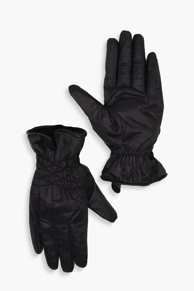 Boohoo Faux Fur Lined Ruche Padded Ski Gloves NL WOMEN Women ACCESSORIES Womens GLOVES
