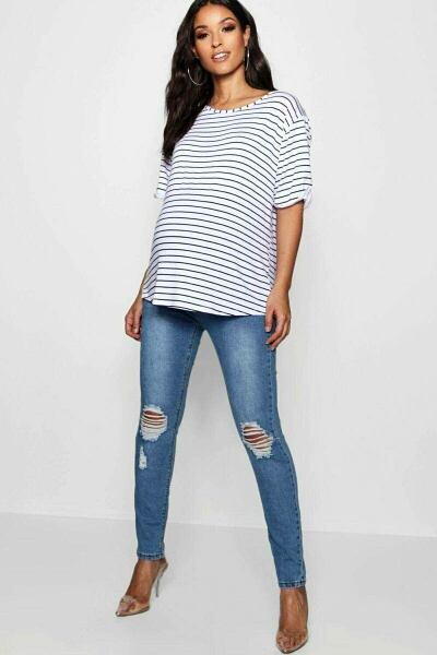 Boohoo UK Lady Jeans Trend Style