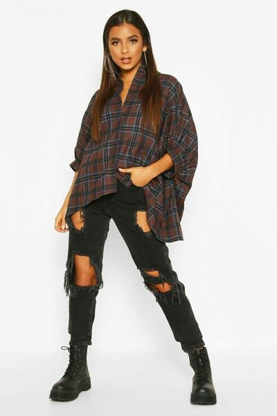 Boohoo UK Lady Shirts Trend Outfits