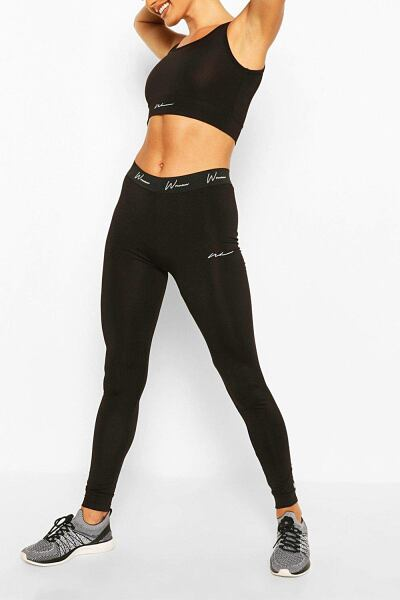 Boohoo Womens Active Compression Tight With Panel UK WOMEN Women FASHION Womens LEGGINGS
