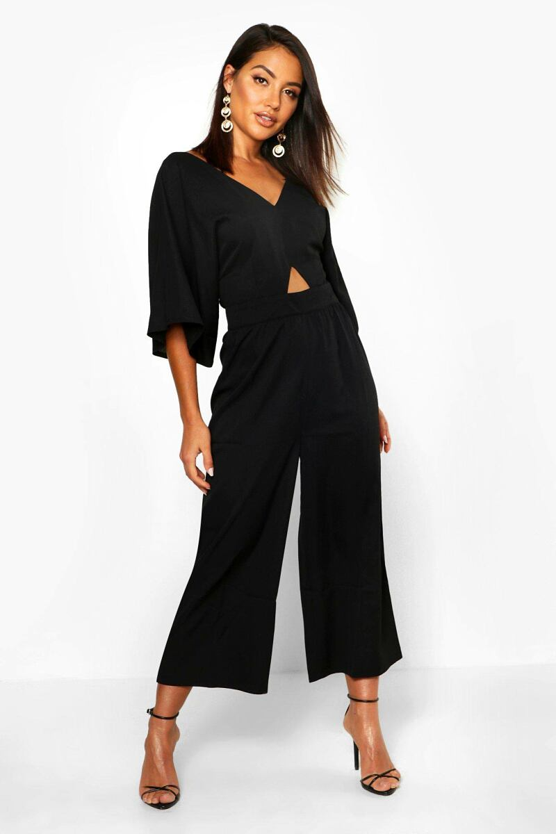 Boohoo Womens Kimono Sleeve Culotte Jumpsuit UK WOMEN Women FASHION Womens JUMPSUITS