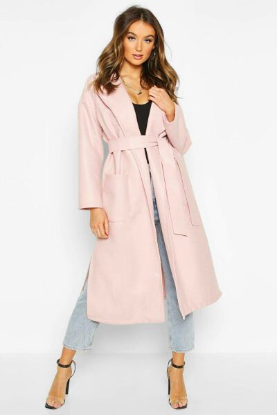Boohoo Womens Oversized Dressing Gown Belted Coat UK WOMEN Women FASHION Womens COATS