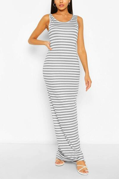 Boohoo Womens Tall Basic Stripe Maxi Dress UK WOMEN Women FASHION Womens DRESSES