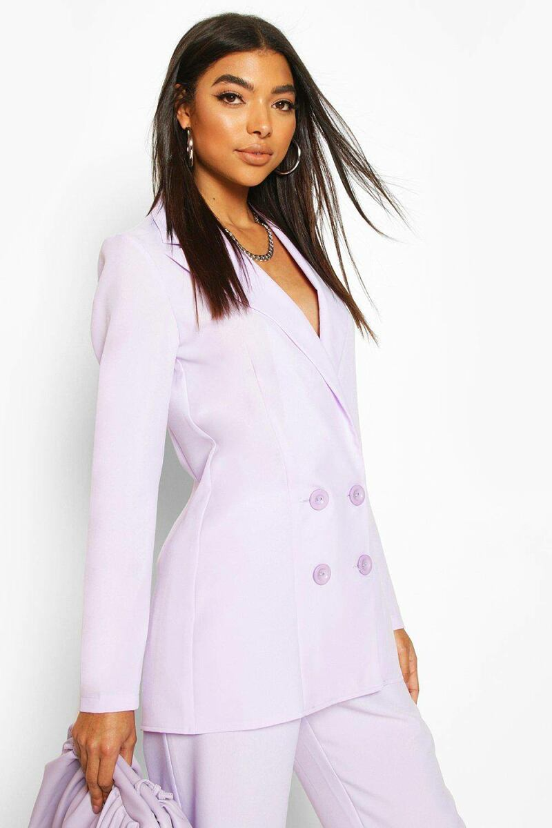 Boohoo Womens Tall Double Breasted Woven Blazer UK WOMEN Women FASHION Womens BLAZER