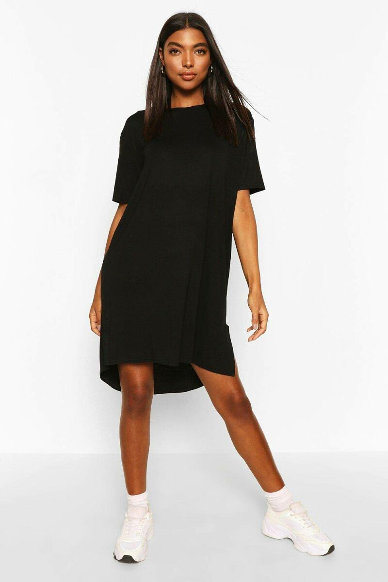 Boohoo Womens Tall Jersey Dipped Hem TUK WOMEN Women FASHION Womens DRESSES