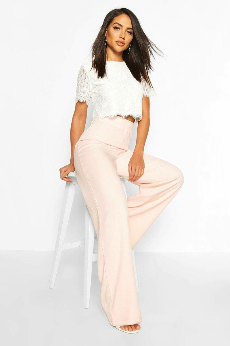 Boohoo Womens Woven Lace Top And Trouser CoUK WOMEN Women FASHION Womens TROUSERS
