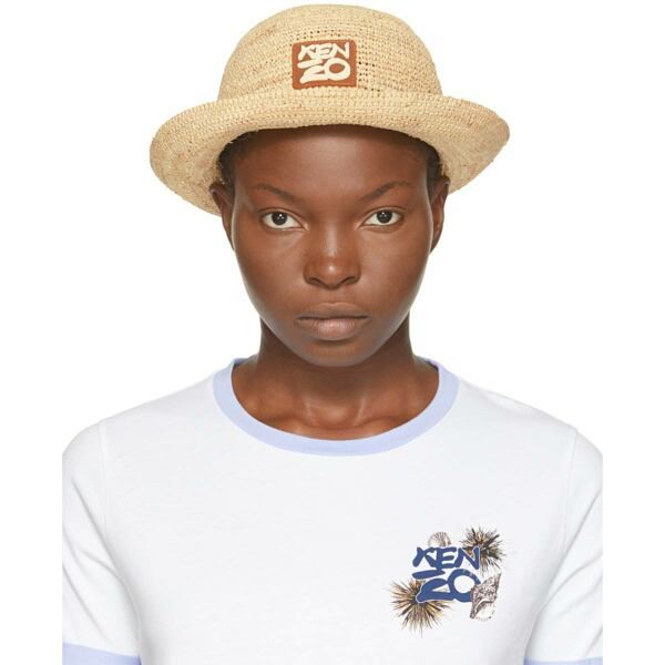 Kenzo Beige High Summer Bucket Hat Ssense USA WOMEN Women ACCESSORIES Womens HATS