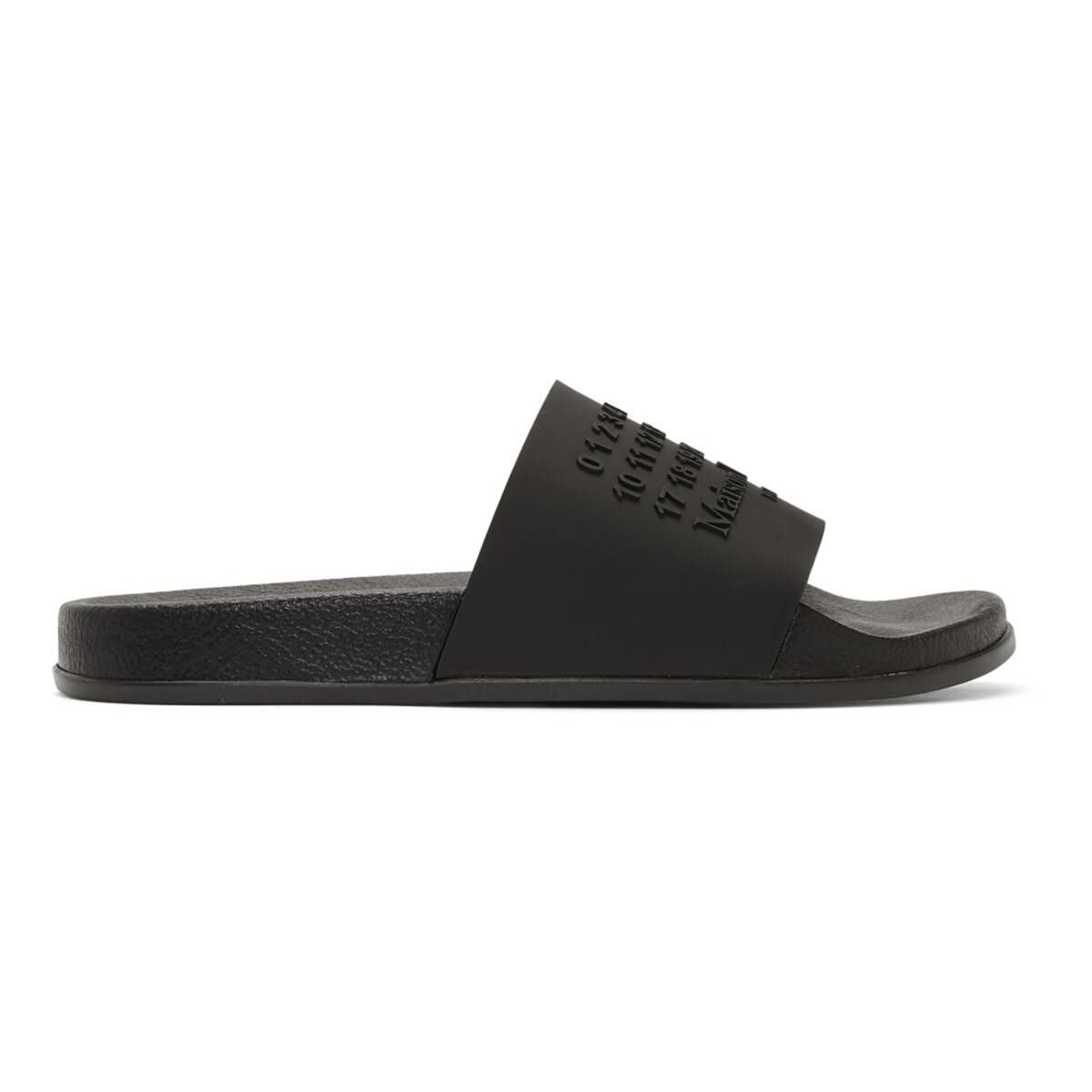 Maison Margiela Black Shower Slides Ssense USA MEN Men SHOES Mens SANDALS