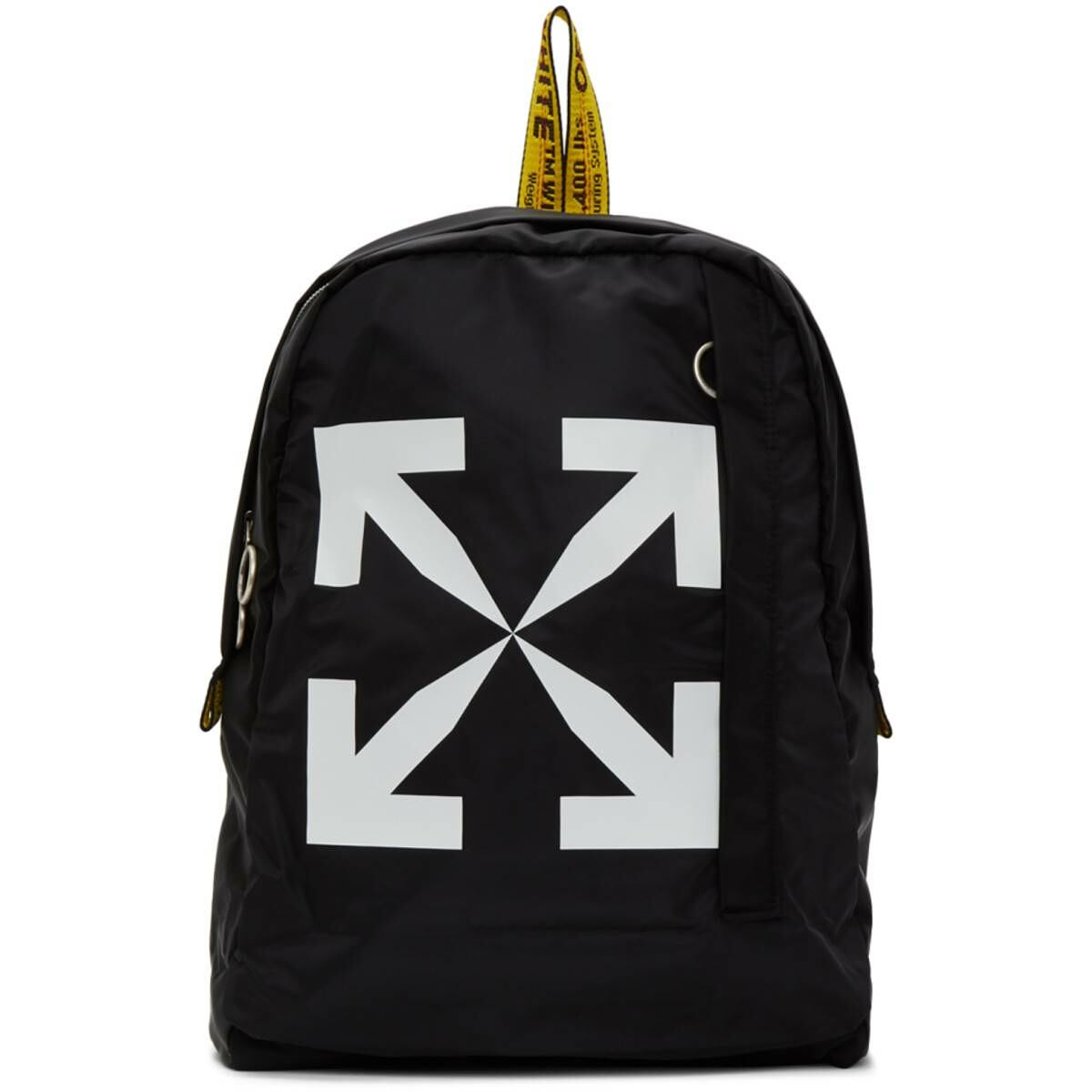 Off-White Black Arrows Easy Backpack Ssense USA WOMEN Women ACCESSORIES Womens BAGS