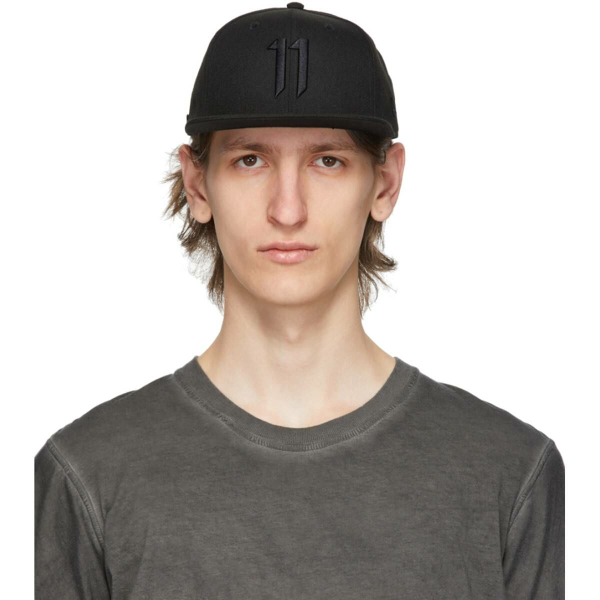 11 by Boris Bidjan Saberi Black New Era Edition Logo Cap Ssense USA MEN Men ACCESSORIES Mens CAPS