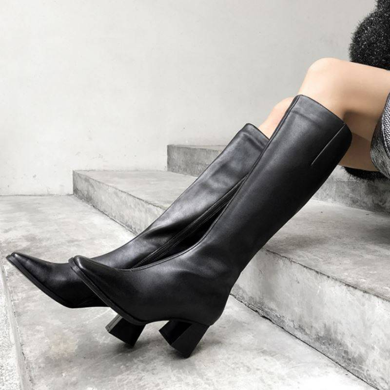 Genuine Leather Shoes Knee High Boots Women SHOES Women Boots