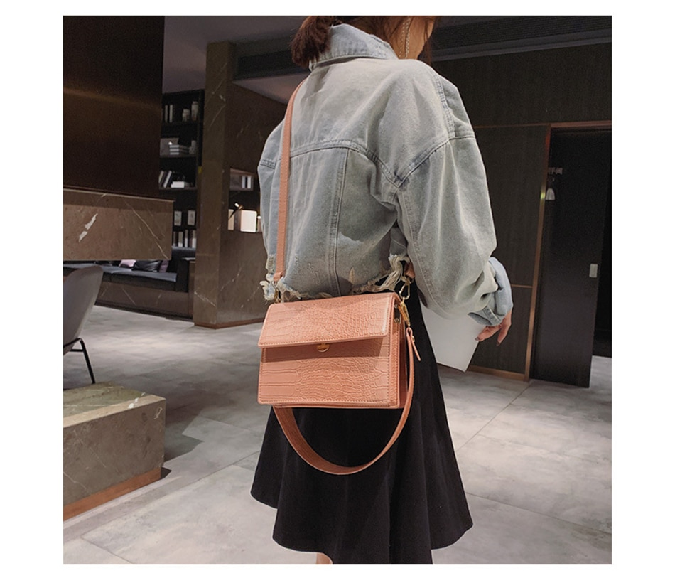 Women's Designer Luxury Handbag 2020 Fashion New High quality PU Leather Women Handbags Crocodile pattern Shoulder Messenger Bag