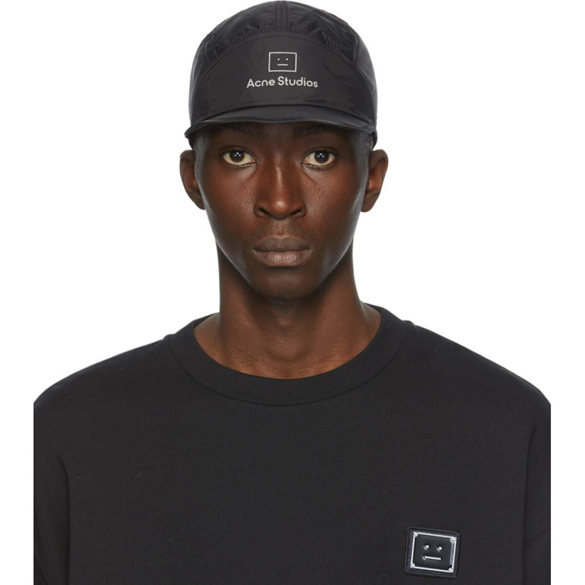Acne Studios Black Crideli Cap Ssense USA MEN Men ACCESSORIES Mens CAPS
