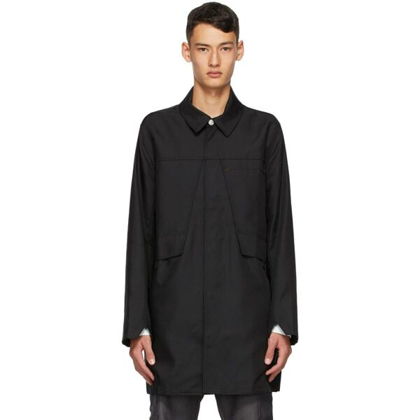 Affix Black Tech Coat Ssense USA MEN Men FASHION Mens COATS
