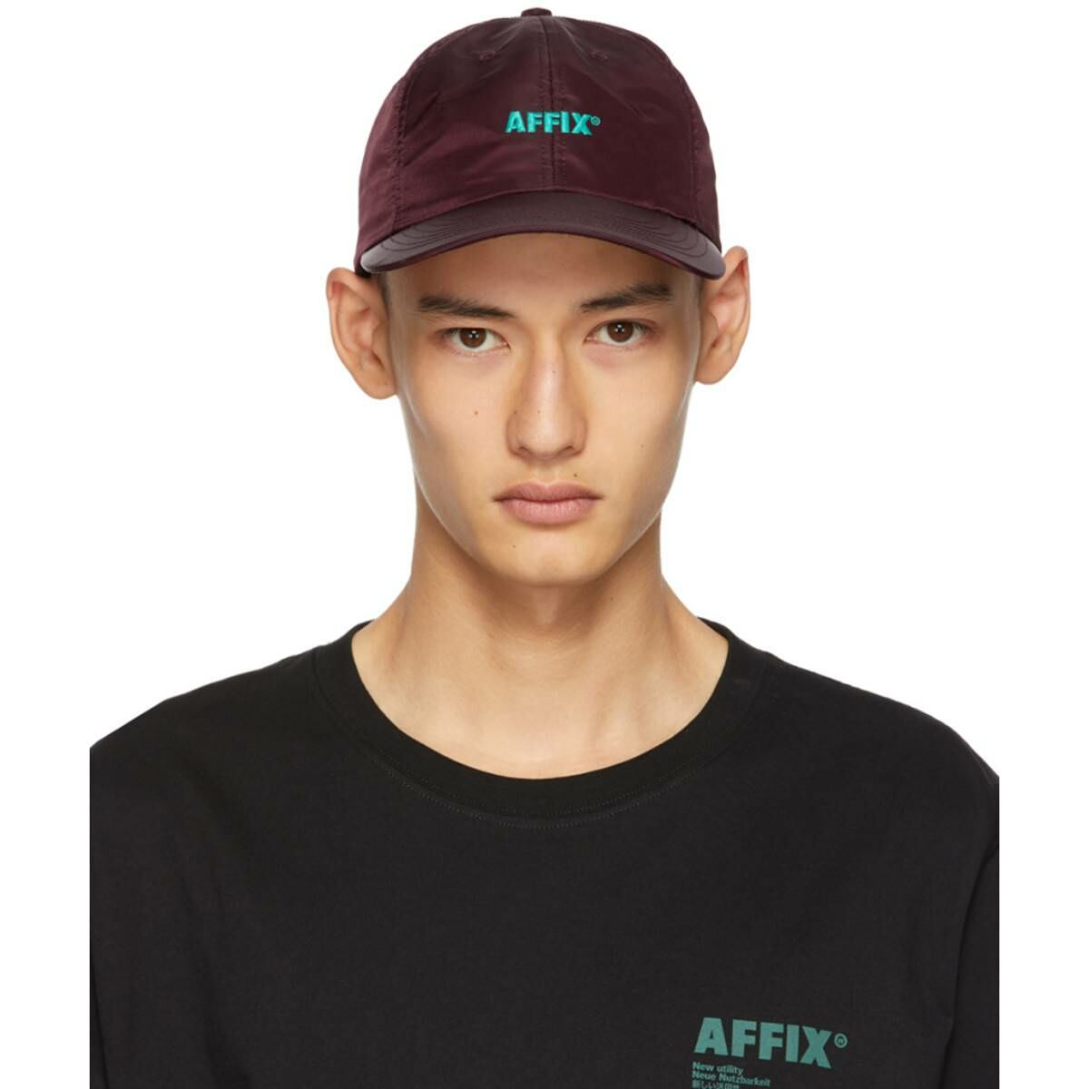 Affix Red Standard Logo Cap Ssense USA MEN Men ACCESSORIES Mens CAPS