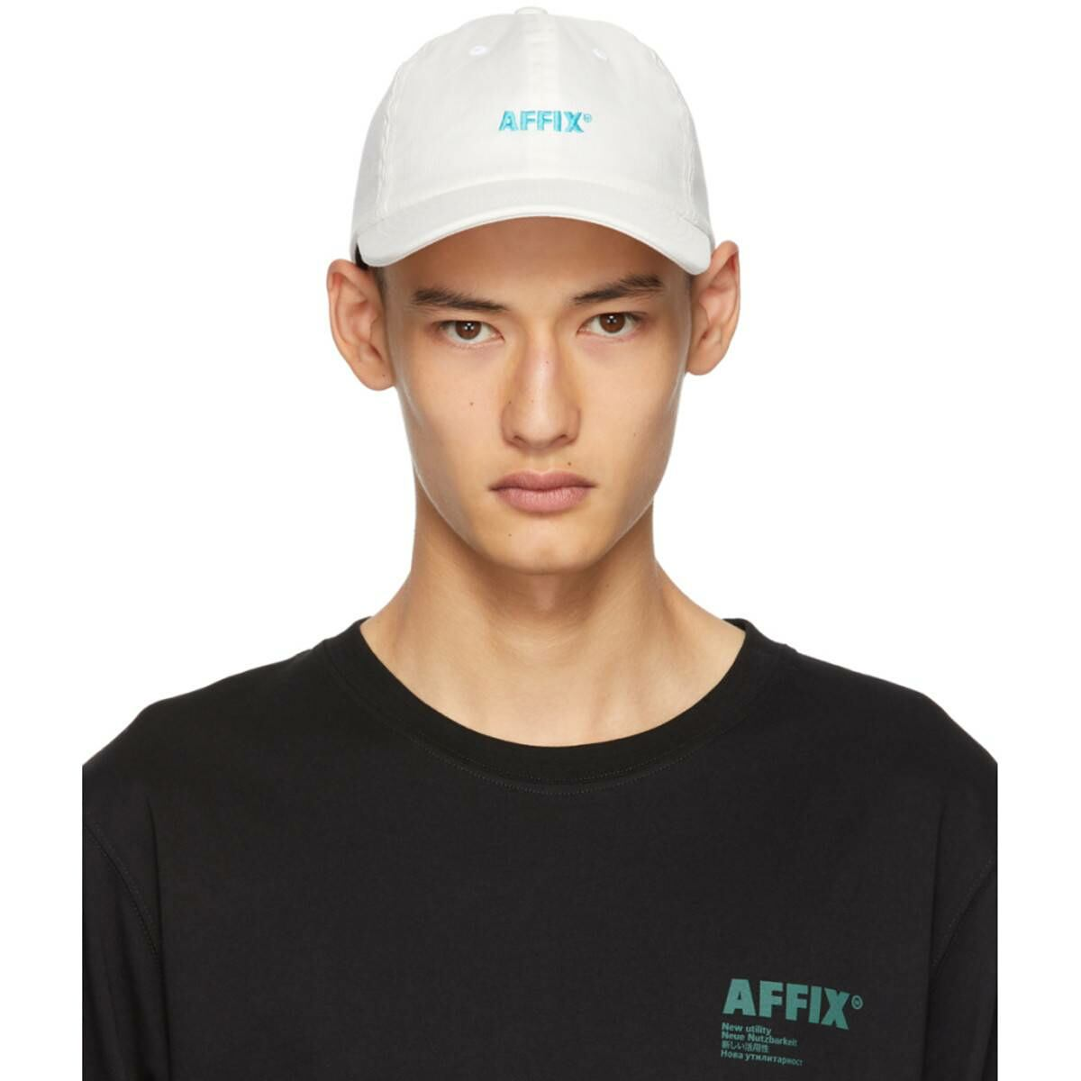 Affix White Standard Logo Drill Cap Ssense USA MEN Men ACCESSORIES Mens CAPS