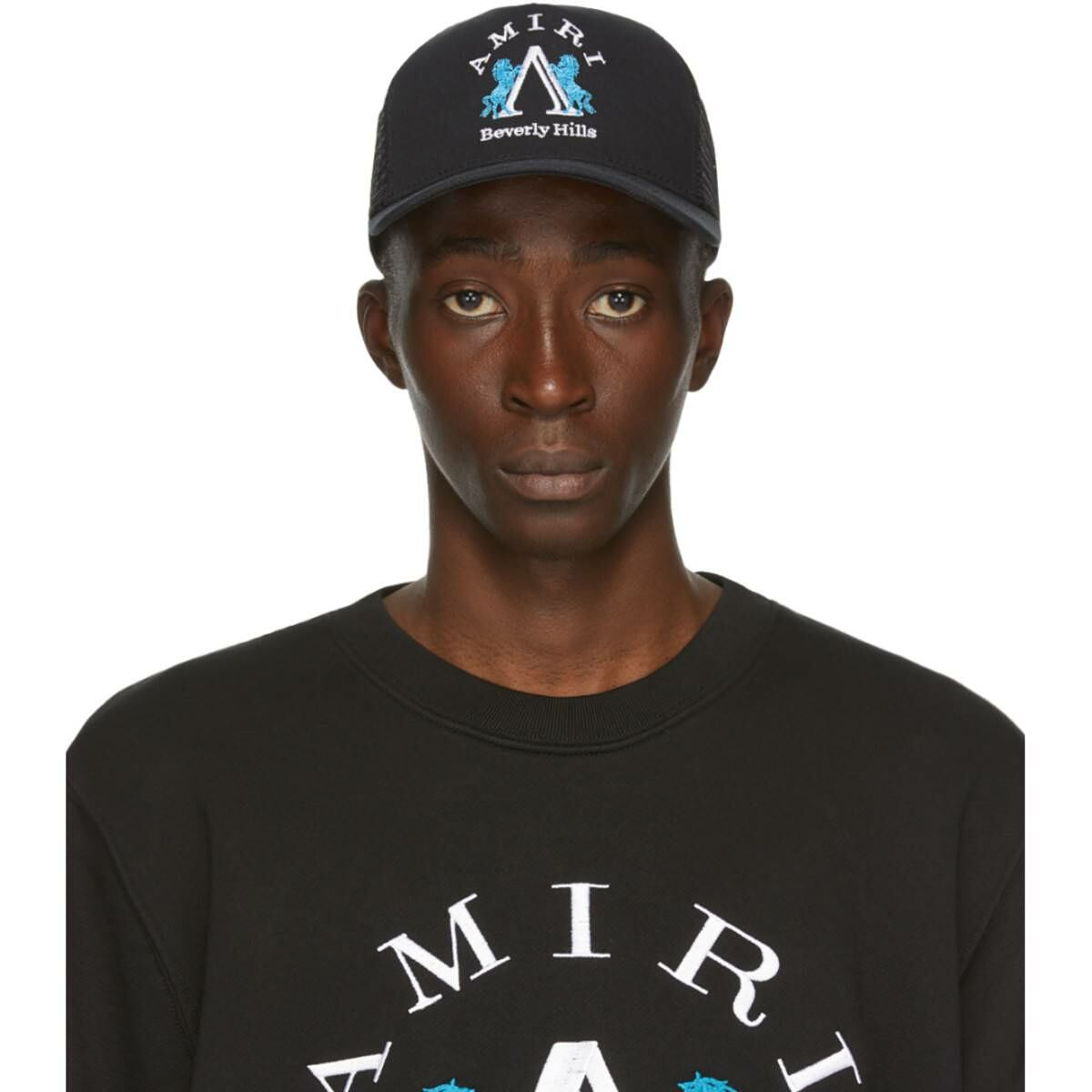Amiri Black Beverly Hills Cap Ssense USA MEN Men ACCESSORIES Mens CAPS