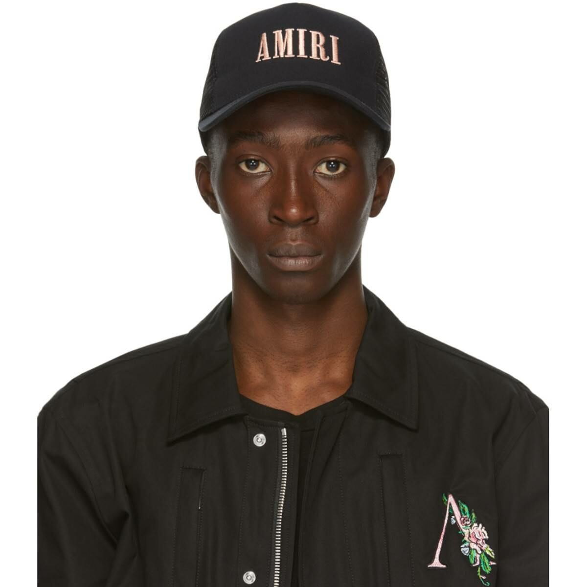Amiri Black Logo Cap Ssense USA MEN Men ACCESSORIES Mens CAPS