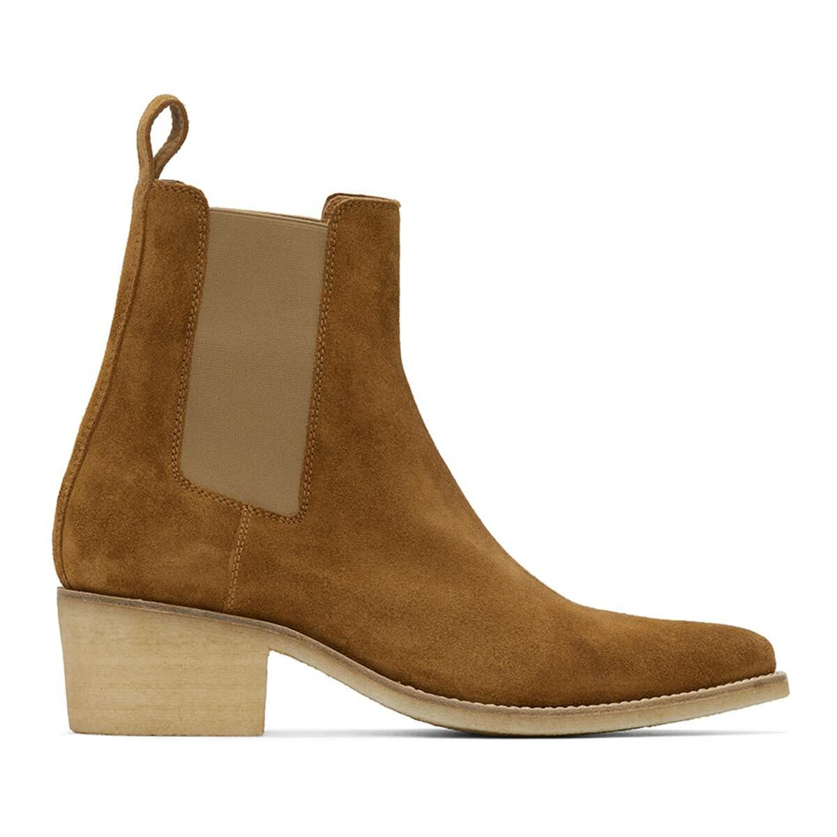 Amiri Brown Suede Pointy Toe Chelsea Boots Ssense USA MEN Men SHOES Mens BOOTS