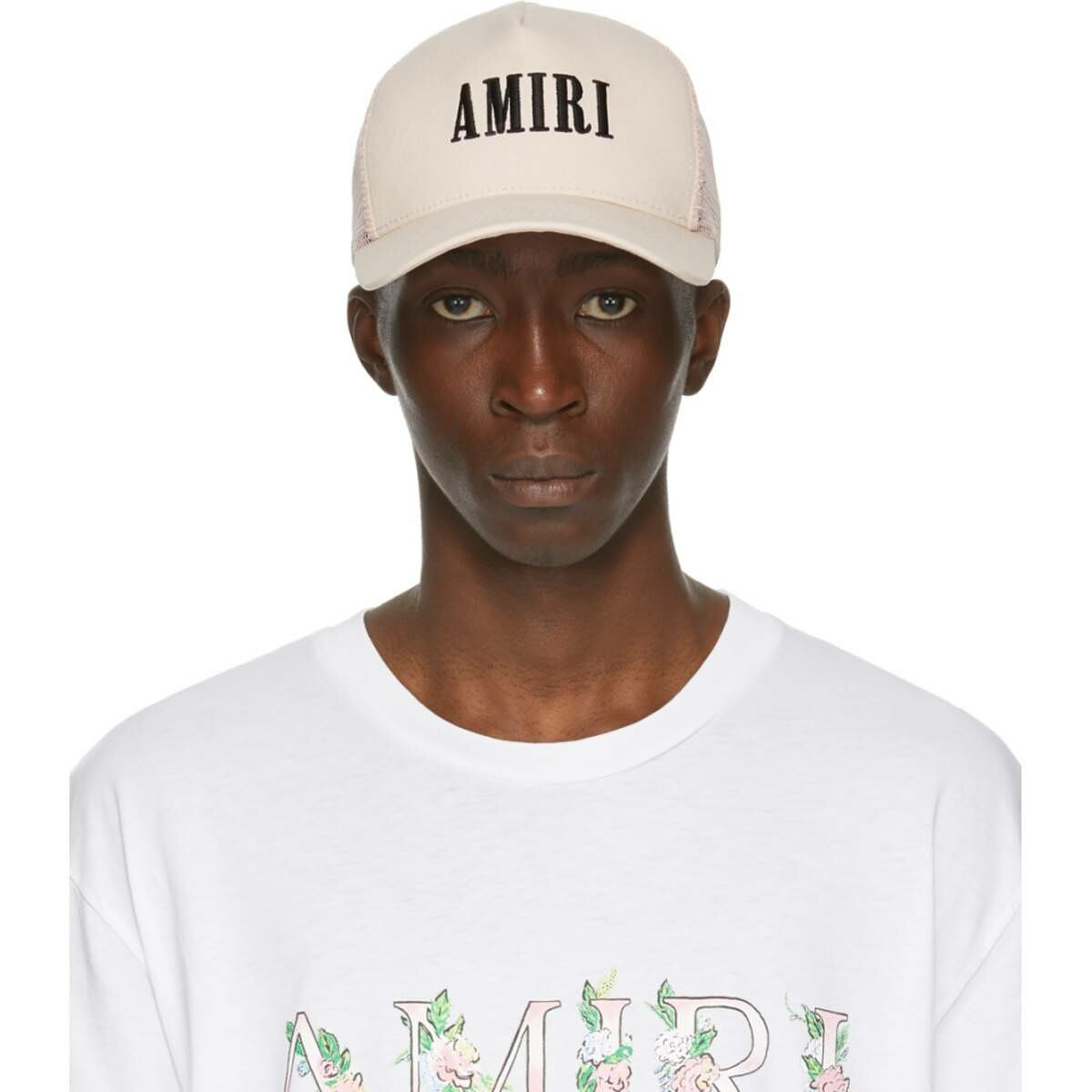 Amiri Pink Logo Cap Ssense USA MEN Men ACCESSORIES Mens CAPS