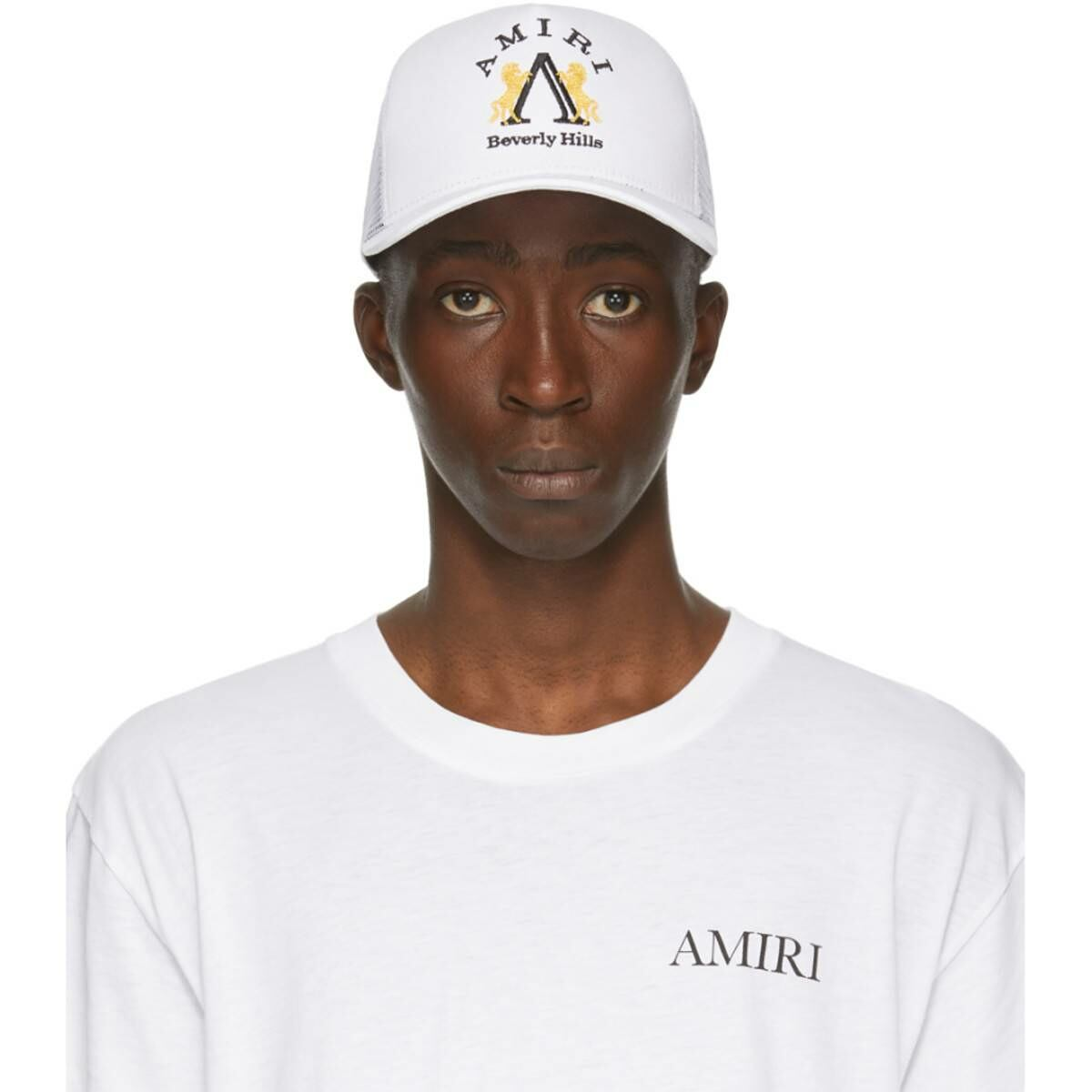 Amiri White Beverly Hills Cap Ssense USA MEN Men ACCESSORIES Mens CAPS
