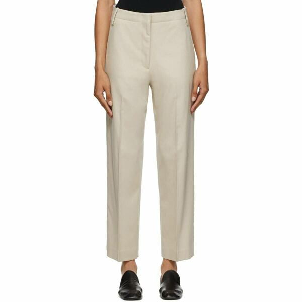 Arch The Beige Wool Trousers Ssense USA WOMEN Women FASHION Womens TROUSERS