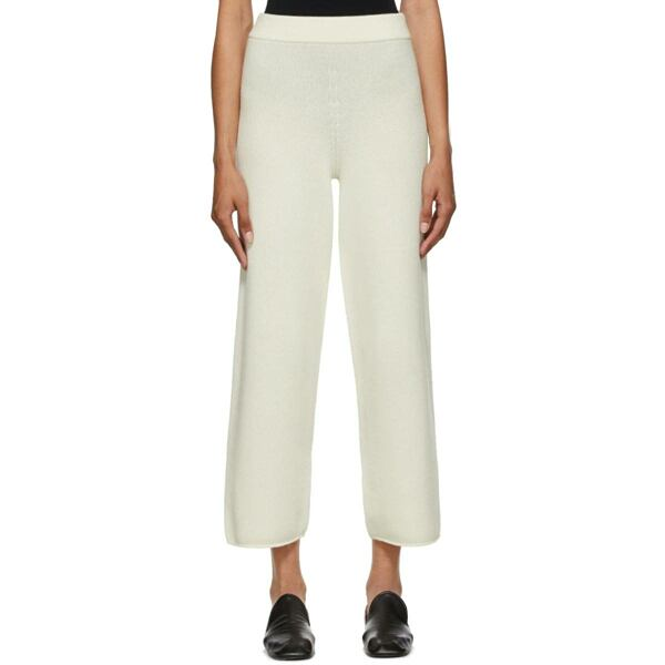 Arch The Off-White Cashmere and Wool Lounge Pants Ssense USA WOMEN Women FASHION Womens TROUSERS