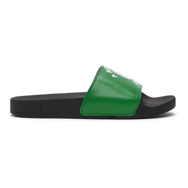 BAPE Green College Slides Ssense USA MEN Men SHOES Mens SANDALS