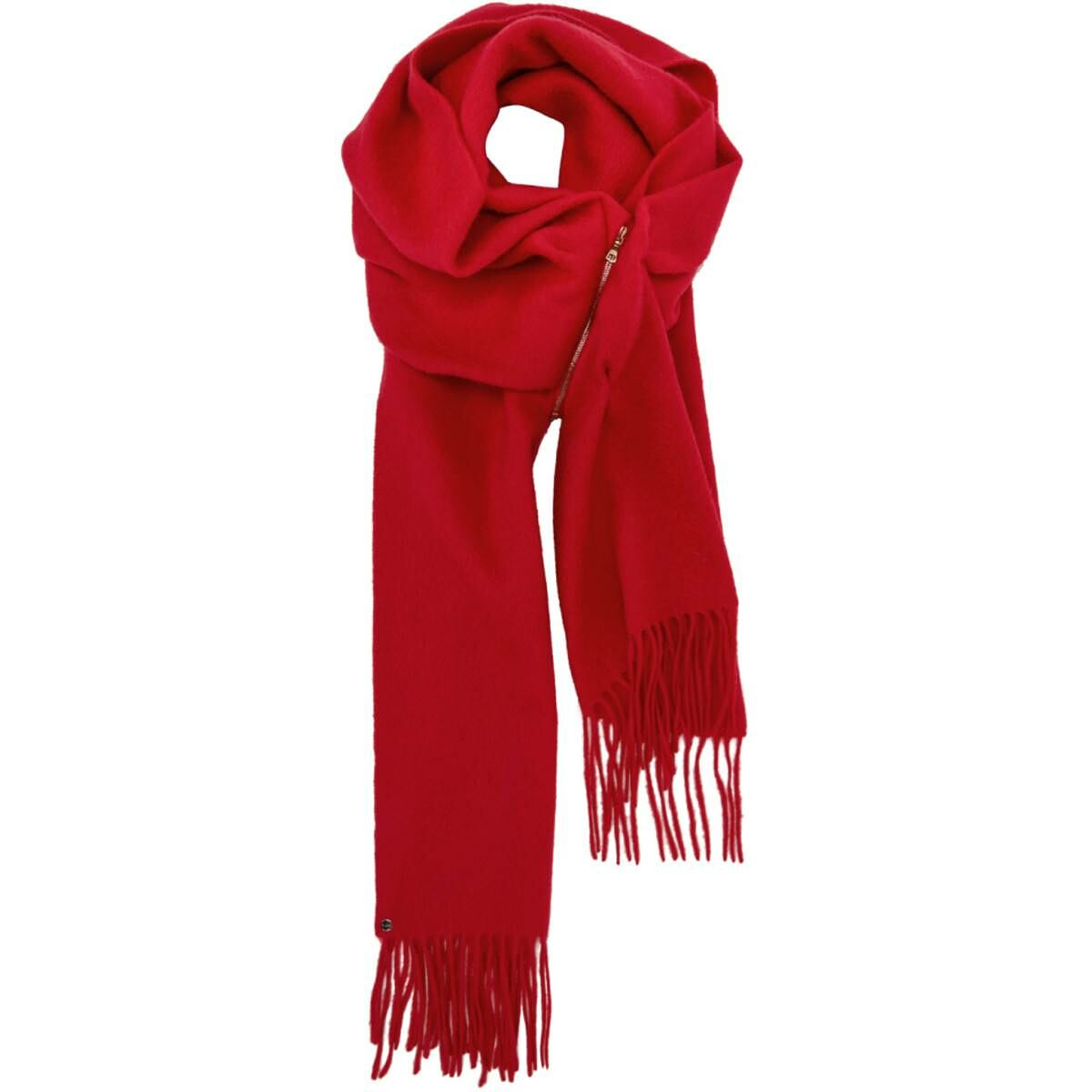 Bless Red Cashmere Zip Scarf Ssense USA WOMEN Women FASHION Womens KNITWEAR