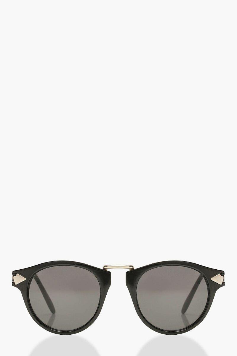 Boohoo Contrast Gold Round Sunglasses NL WOMEN Women ACCESSORIES Womens SUNGLASSES