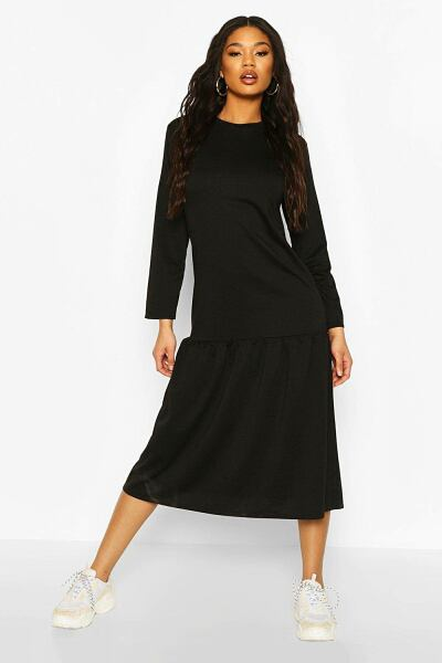 Boohoo Midaxi Smock Dress NL WOMEN Women FASHION Womens DRESSES