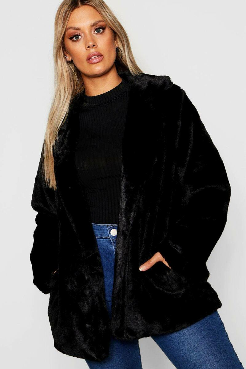 Boohoo Plus Faux Fur Coat NL WOMEN Women FASHION Womens COATS