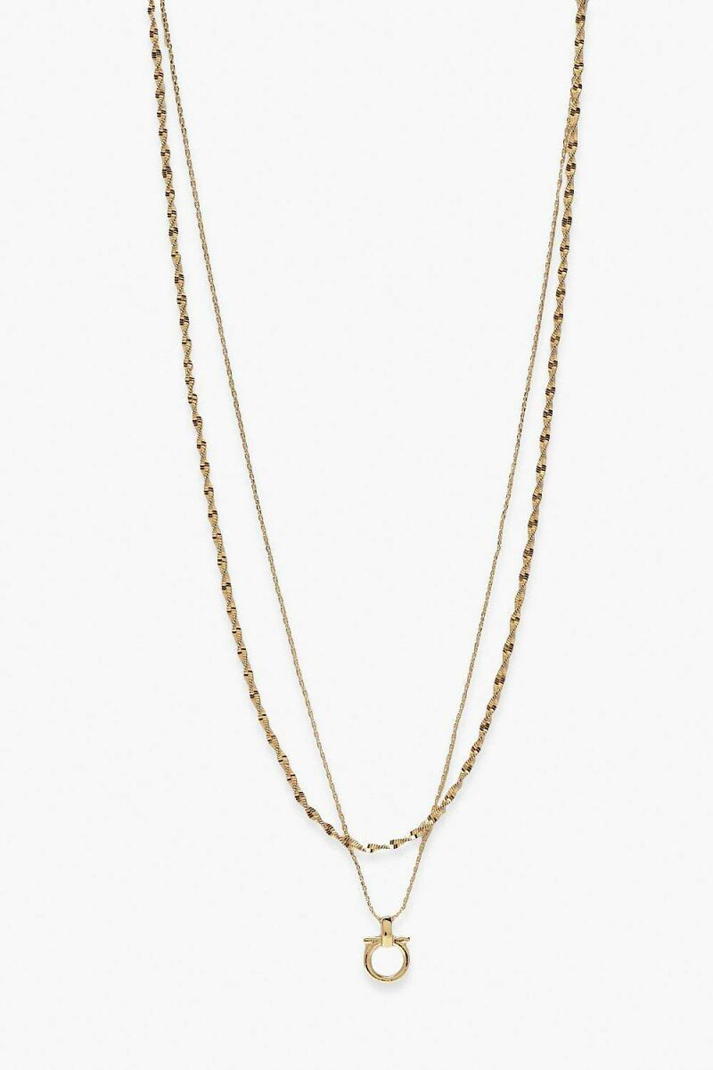 Boohoo Simple Chain And Pendant Layered Necklace NL WOMEN Women ACCESSORIES Womens JEWELRY