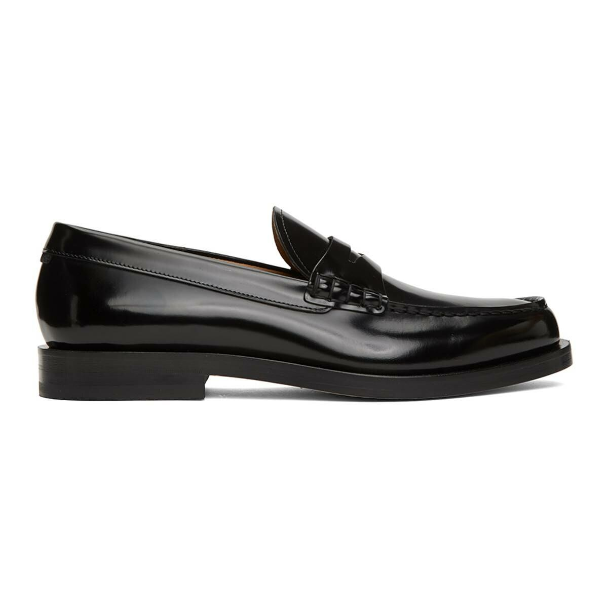 Boss Black Patent Leather Loafers Ssense USA MEN Men SHOES Mens LOAFERS