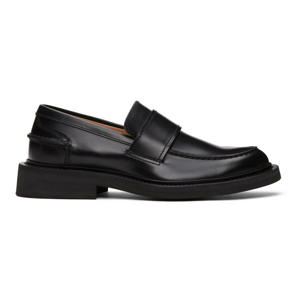 Bottega Veneta Black Rubber Sole Loafers Ssense USA MEN Men SHOES Mens LOAFERS