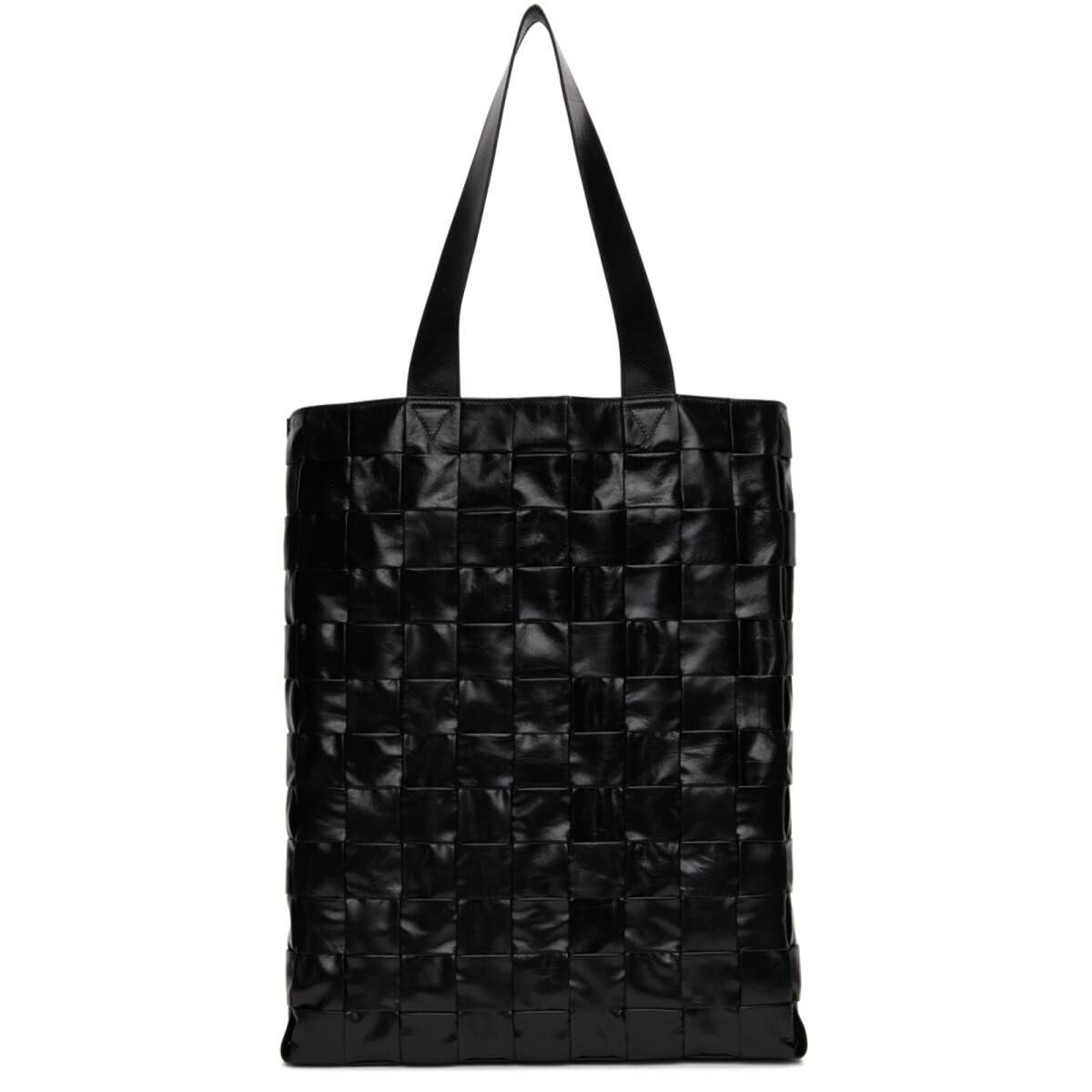 Bottega Veneta Black The Cassette Tote Ssense USA MEN Men ACCESSORIES Mens BAGS