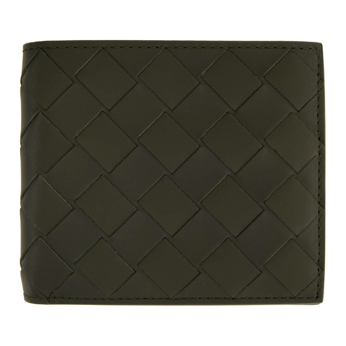 Bottega Veneta Grey Intrecciato Bifold Wallet Ssense USA MEN Men ACCESSORIES Mens WALLETS